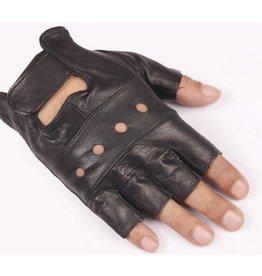 Unisex Leatherette Finglerless Glove