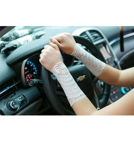 Lace Wrist Gaunglets- White One Size