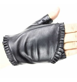 Ruffled Lambskin Glovelette - One size