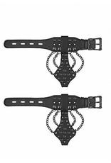 Skulls & Bones Wrist Cuffs w/ Chains