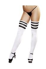 Striped Thigh High Socks