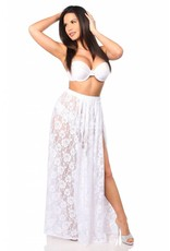 Daisy Long Sheer Lace Skirt w/ Side Slit