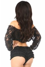 Daisy Long Sleeve Lace Peasant Top