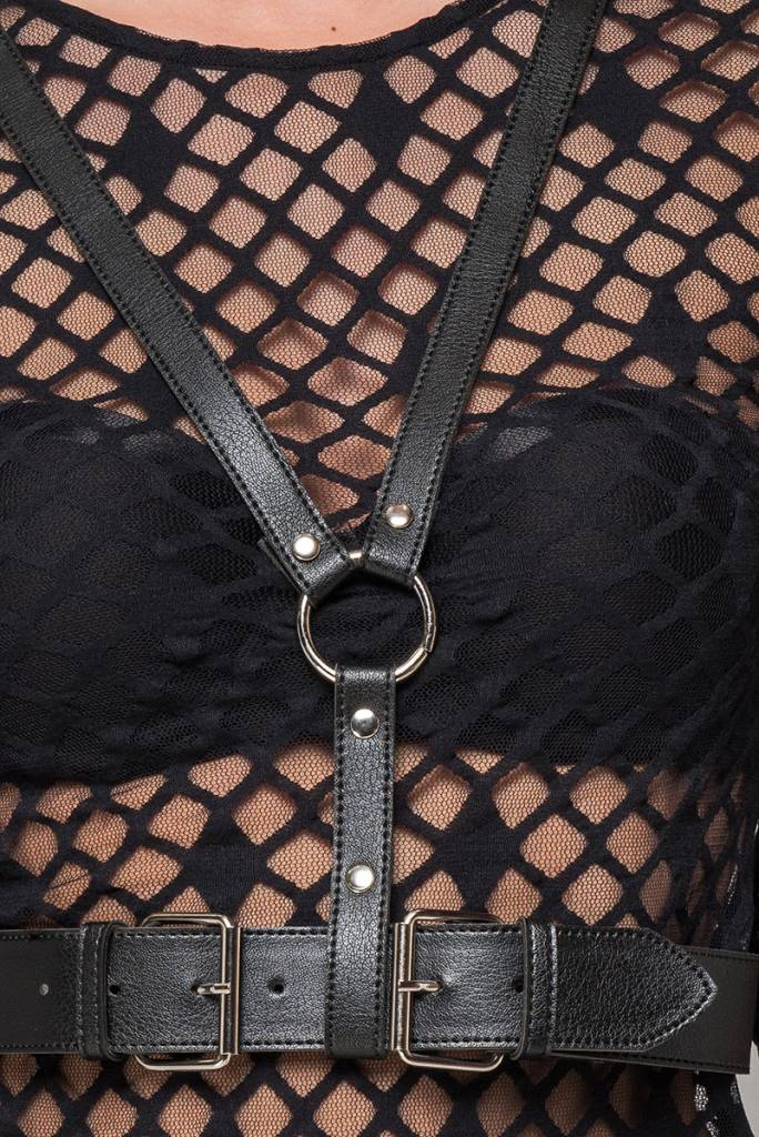 Leatherette Femme Y Harness