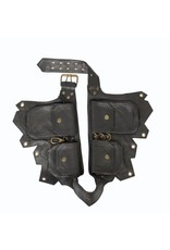 Leather 4 Pouch Belt w/ Grommets