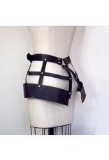 Lovelorn Lingerie Hubris Leather Harness Cage Skirt