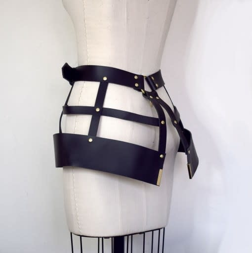 Lovelorn Lingerie Hubris Leather Harness Cage Skirt