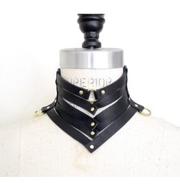 Lovelorn Lingerie Victoria Gorget Leather Collar
