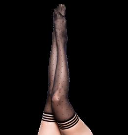 Ally Black Polka Dot Thigh Highs