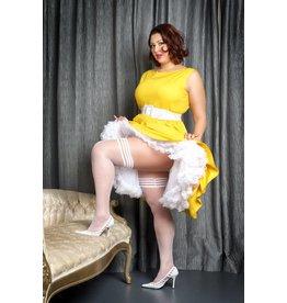 Brooke LeeAnne White Polka Dot Thigh Highs