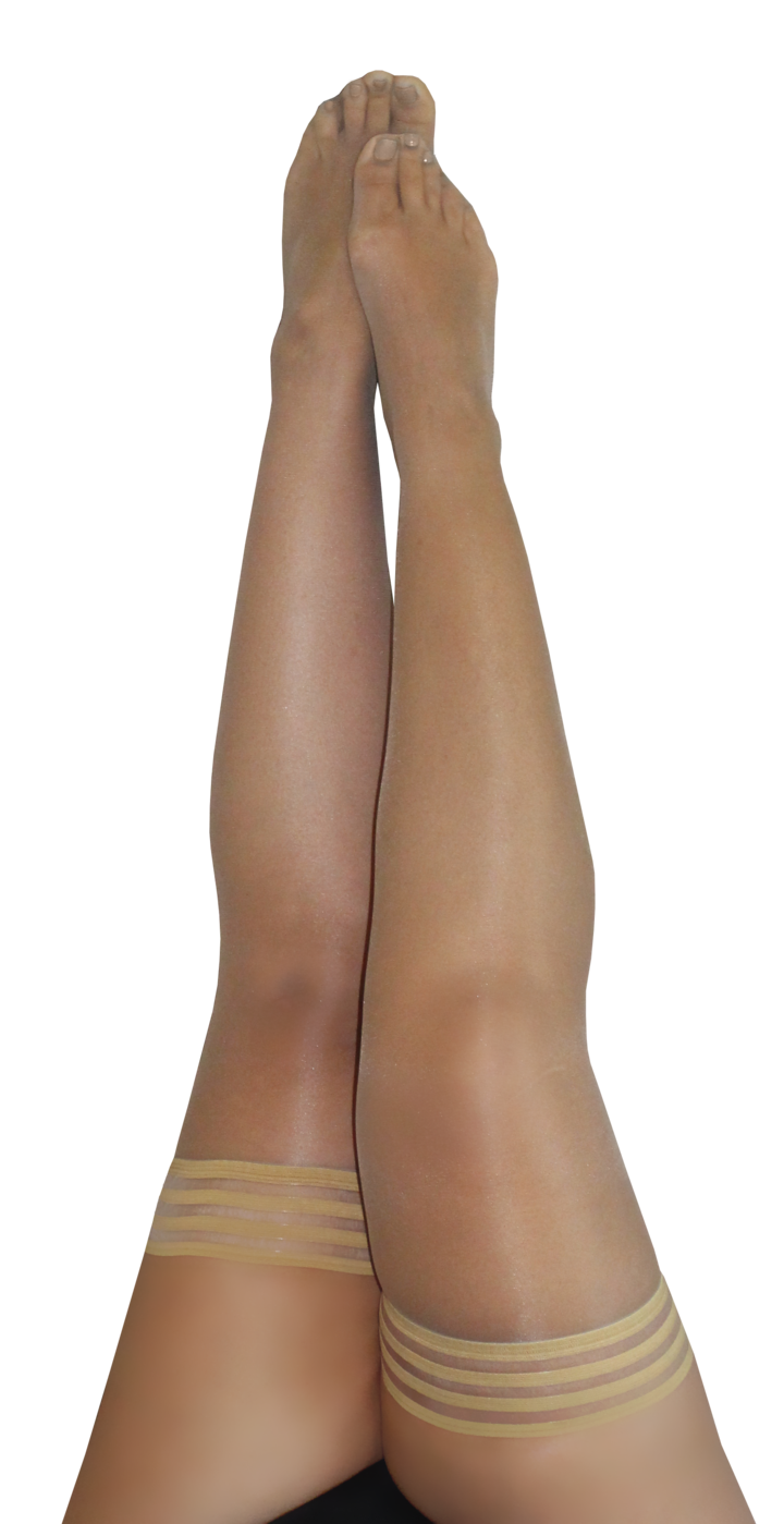Kix'ies Jenny Sheer Nude Thigh Highs