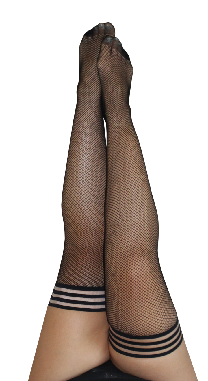 Sam Black Fishnet Thigh Highs