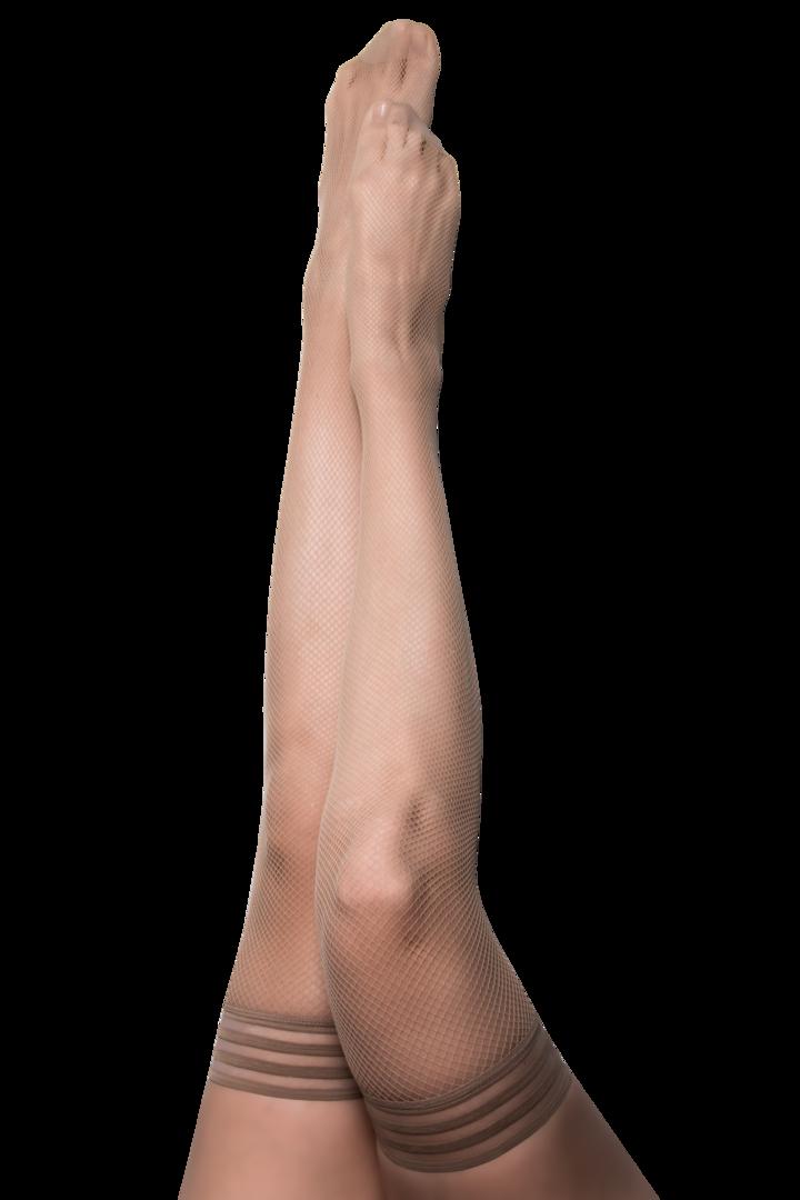 Kix'ies Samantha Nude Fishnet Thigh Highs