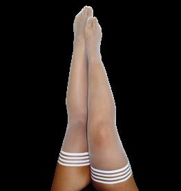 Sammy White Fishnet Thigh Highs