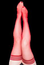 Kix'ies Sandra Red Fishnet Thigh Highs