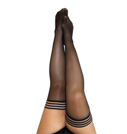 Kix'ies Taylor Sheer Black Thigh Highs