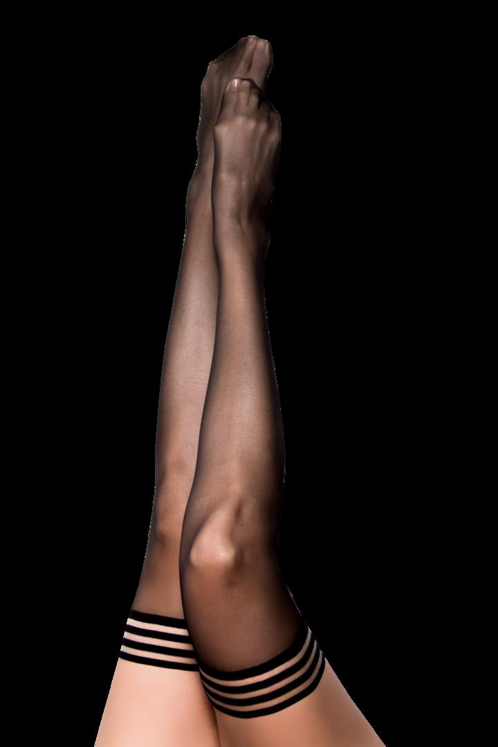 Taylor Sheer Black Thigh Highs