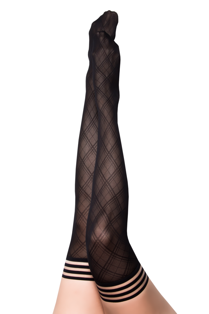 Tiffany Black Diamond Thigh Highs