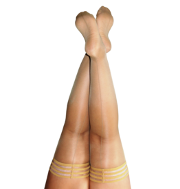 Kix'ies Vanessa Nude Thigh Highs w/ Nude Back Seam