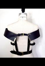 Lovelorn Lingerie Hubris Off the Shoulder Leather Harness