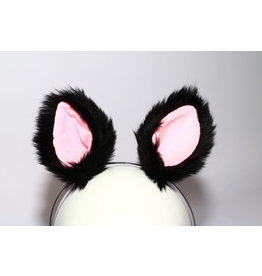 Clip-On Faux Fur Ears w/ Headband