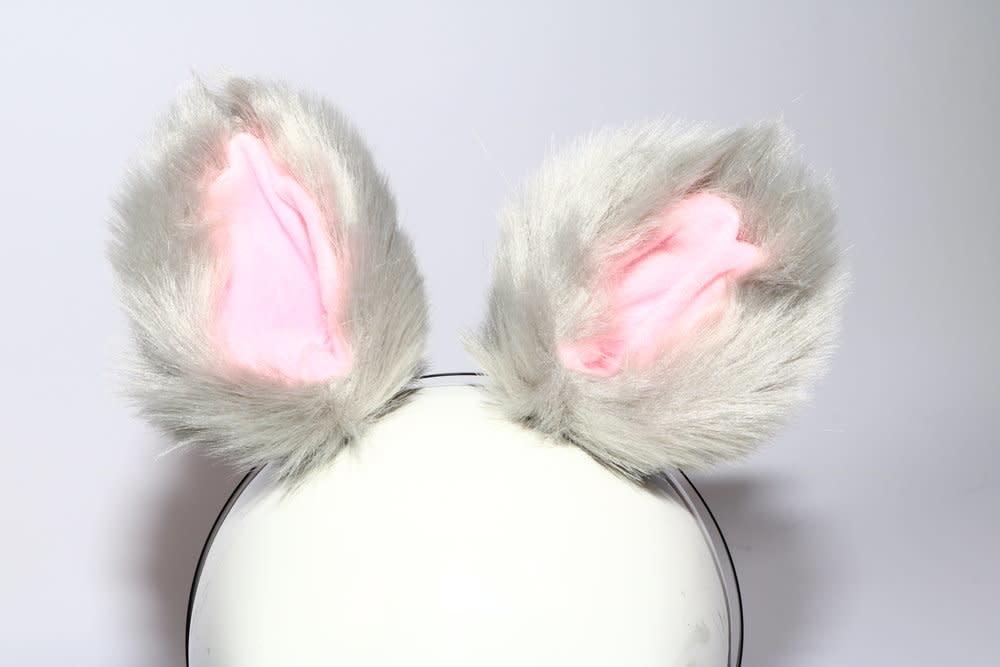 Clip-On Faux Fur Ears w/ Headband