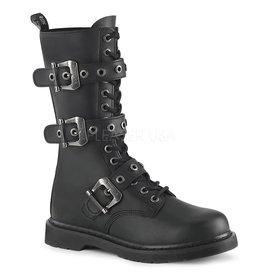 Demonia Unisex Mid Calf Combat Boot w/ 3 Buckles