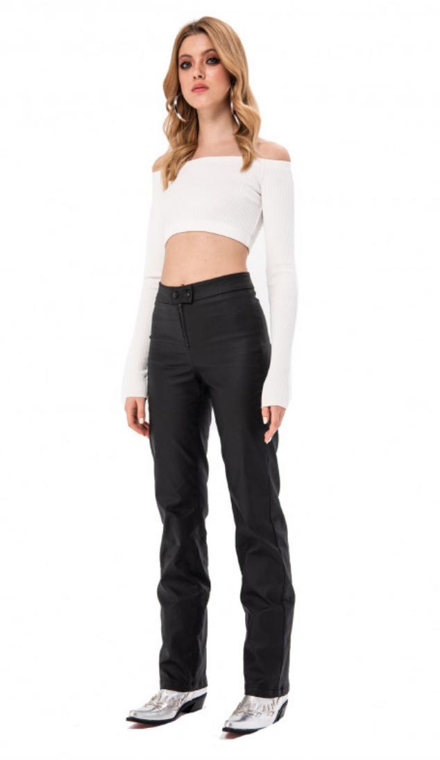 Faux Leather Matte Pants