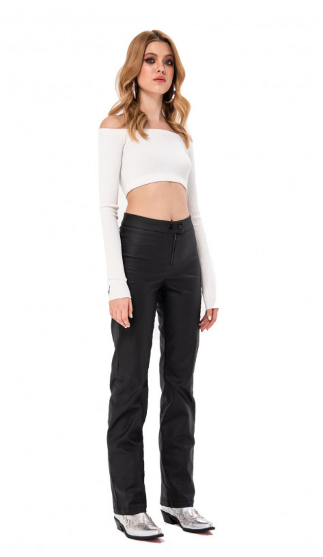 Faux Leather Matte Pants