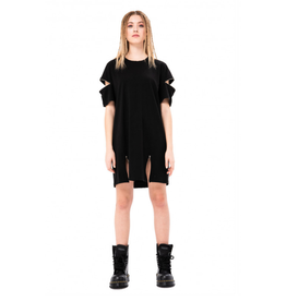 Zip Accent T-Shirt Dress