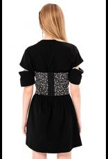 Zip Accent T-Shirt Dress
