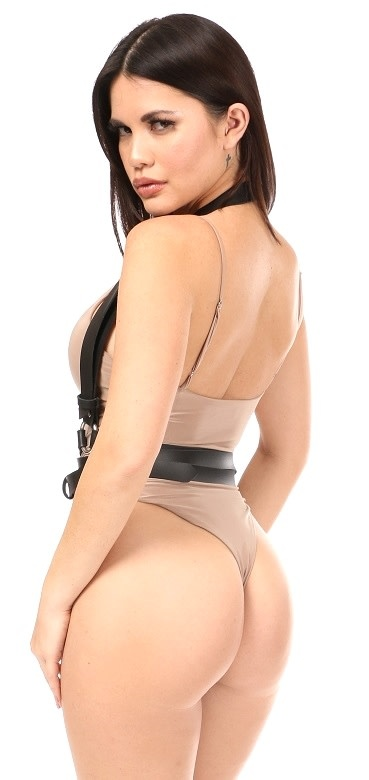 Daisy Leatherette Shoulder Strap Wrap Harness