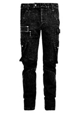 PNKR Dark Acid Wash Cargo Jeans