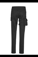 PNKR Unisex Black Thigh Pouch Jeans