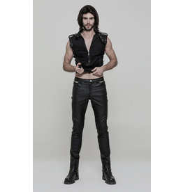Slim Cut Faux Leather Pants