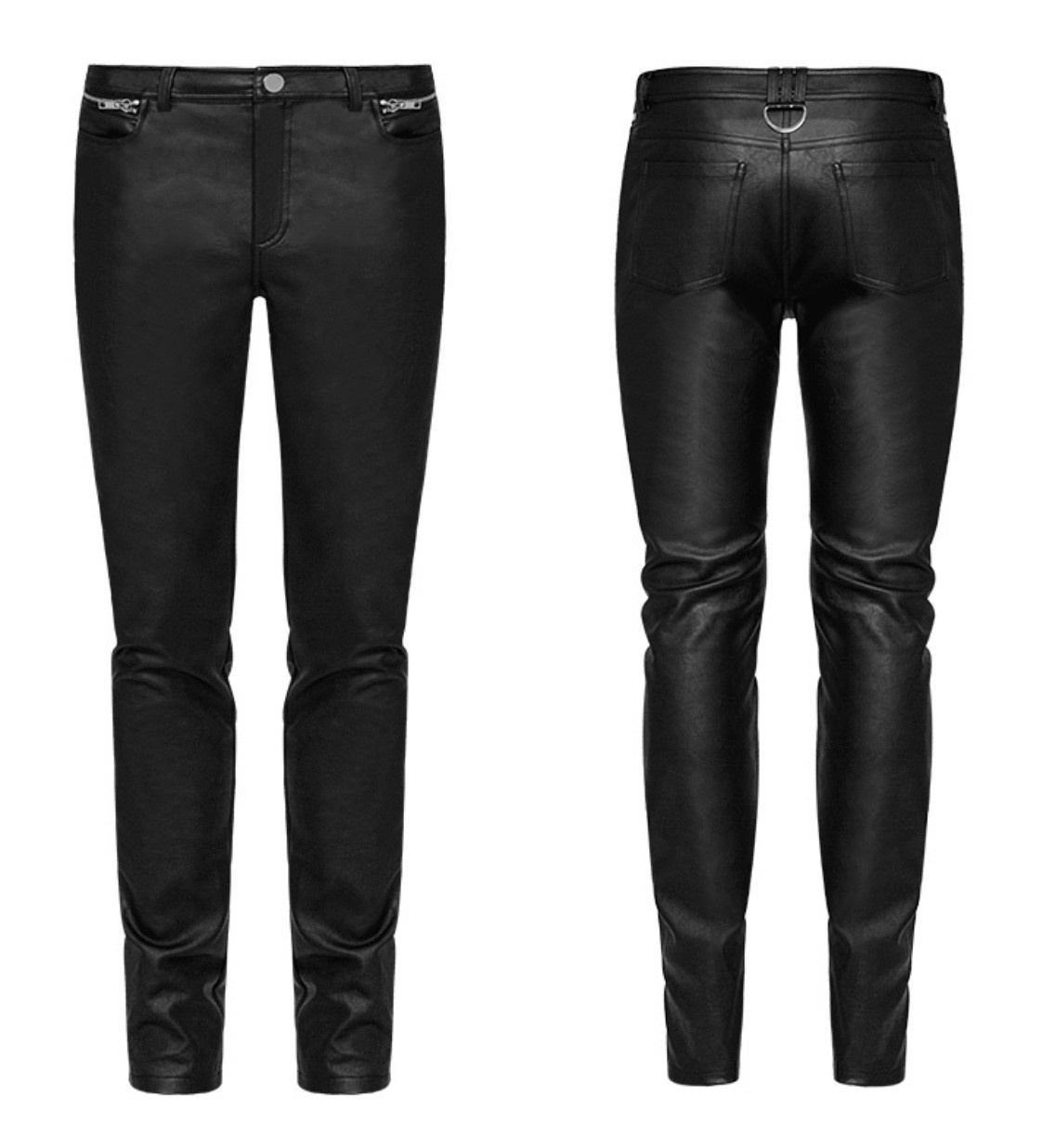 PNKR Slim Cut Faux Leather Pants