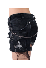 PNKR Distressed & Spiked Shorts w/ Pouch