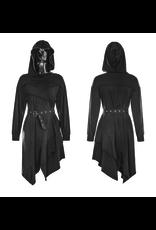 PNKR Asymmetrical Belted Hoodie Dress