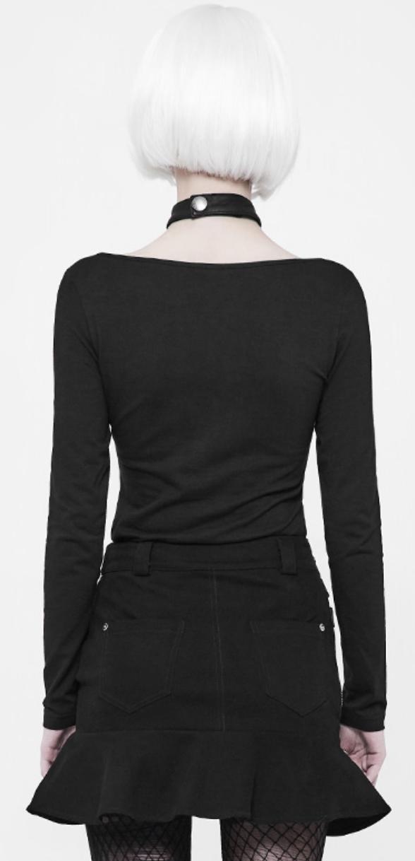 PNKR Long Sleeve Shirt w/ Leatherette Choker Collar