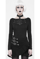 PNKR Long Sleeve Shirt w/ Leatherette Choker Collar