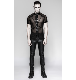 PNKR Mesh Zip Shirt w/ Chains