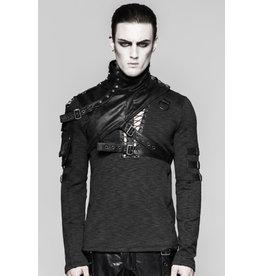 Asymmetrical Faux Leather Shoulder Harness