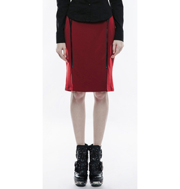 Military Pencil Skirt w/ Leatherette Accents