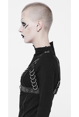 PNKR Faux Leather Chest Harness w/ D-Rings