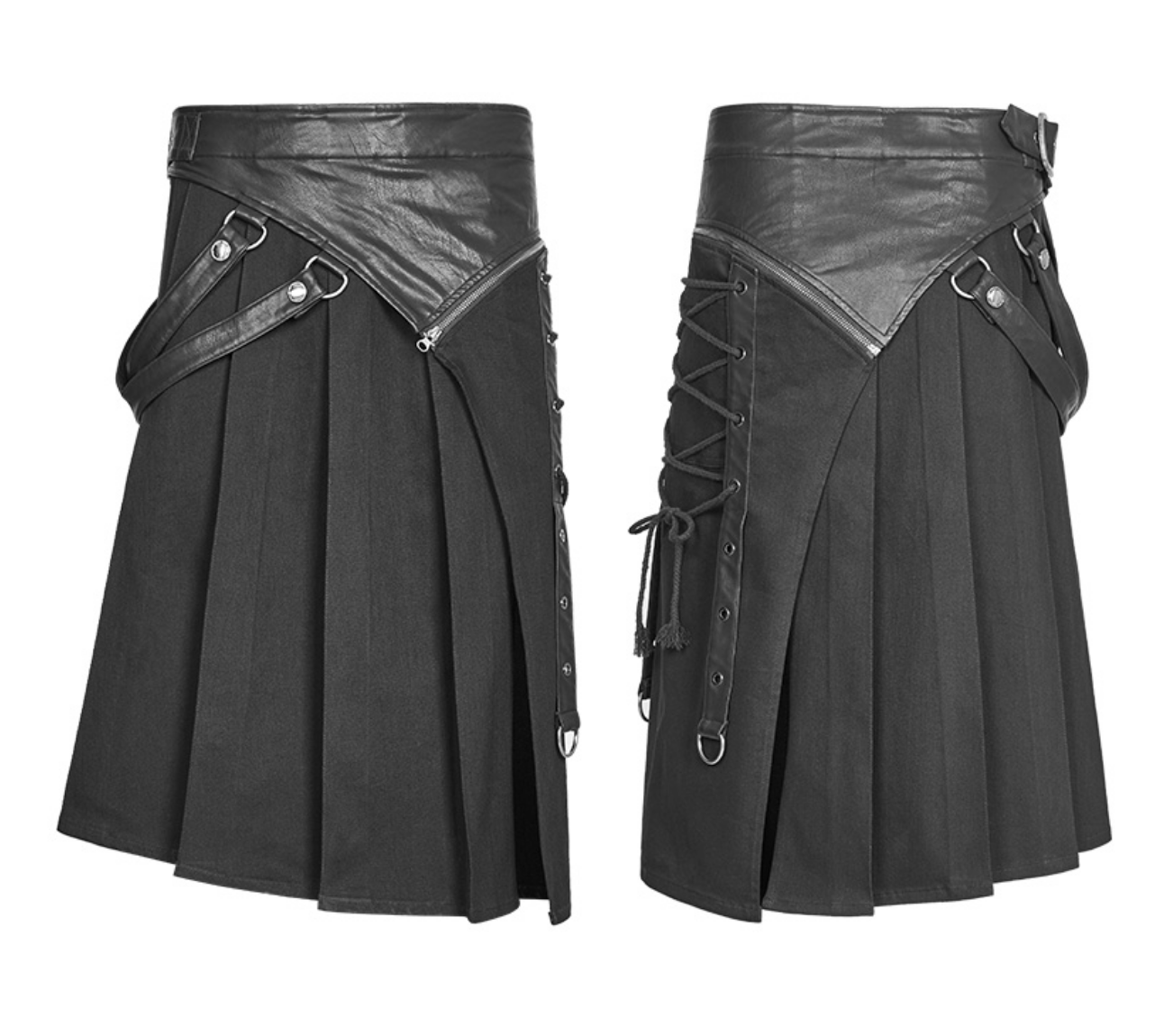 Kilt Skirt w/ Zip-Off Panel