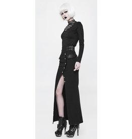 Long Military Pencil Skirt w/ Slit