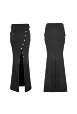 PNKR Long Military Pencil Skirt w/ Slit