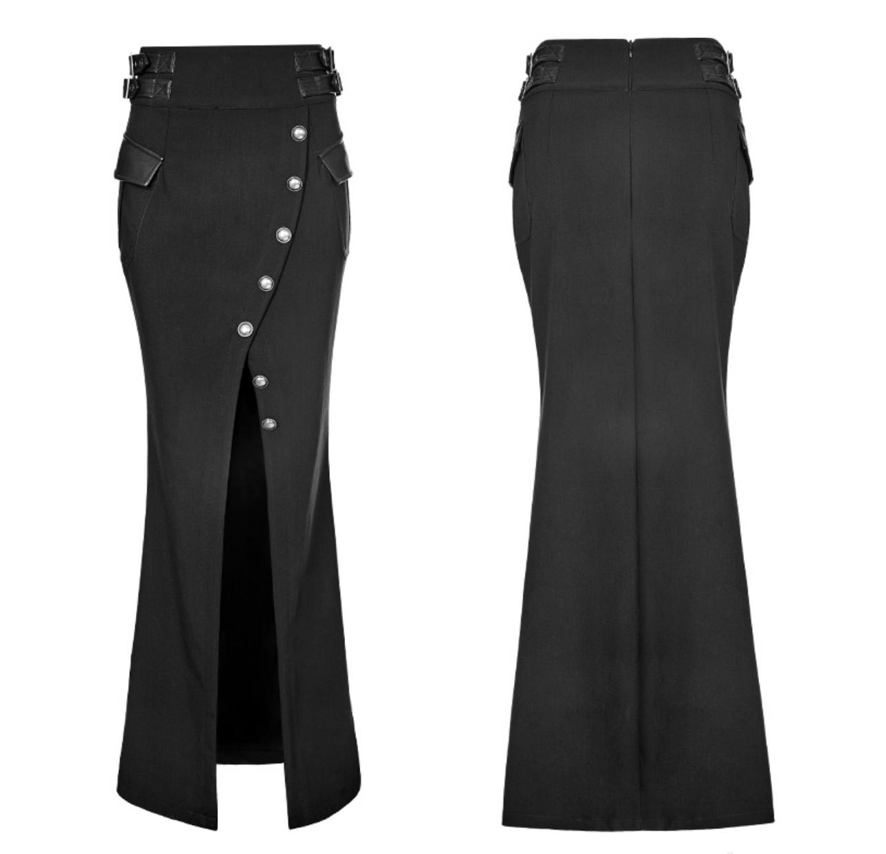 PNKR Long Military Pencil Skirt w/ Slit