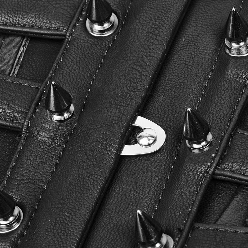 Faux Leather Cutout Cincherette