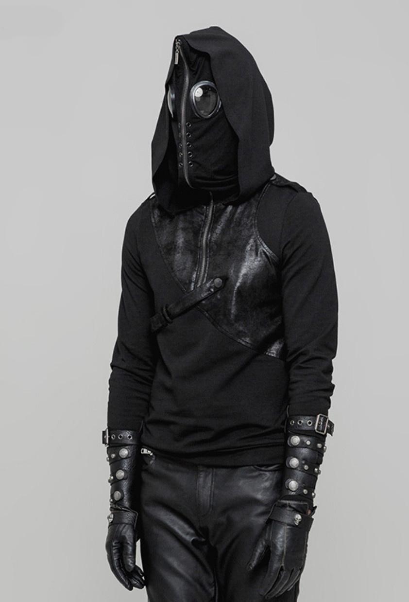 Pullover Hoodie w/ Zip-Up Mask